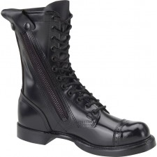 "Corcoran 10"" Black Leather Side Zip Jump Boot - 995"